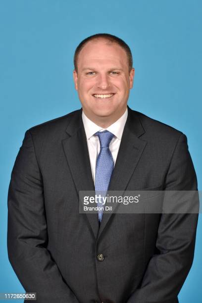 Head Coach Taylor Jenkins of the Memphis Grizzlies poses for a head shot during media day on September 30 2019 at the FedEx Forum in Memphis...