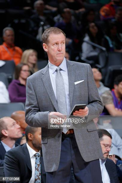 Head coach Terry Stotts of the Portland Trail Blazers coaches against the Sacramento Kings on November 17 2017 at Golden 1 Center in Sacramento...
