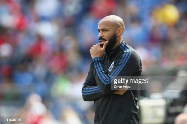 Head coach Thierry Henry of Montreal Impact looks on during an MLS match between FC Dallas and Montreal Impact at Toyota Stadium on March 7, 2020 in...