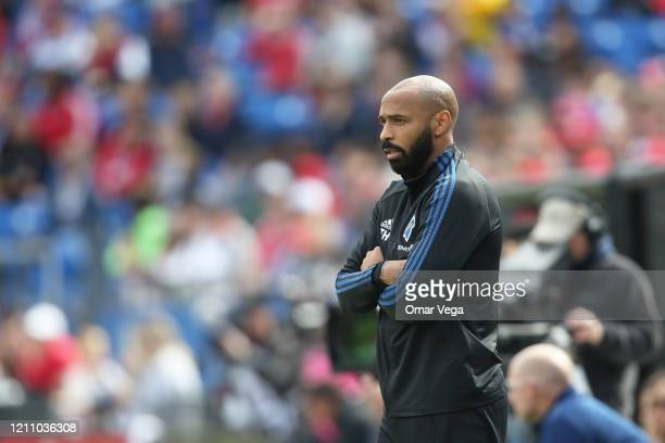 Head coach Thierry Henry of Montreal Impact looks on during an MLS match between FC Dallas and Montreal Impact at Toyota Stadium on March 7 2020 in...