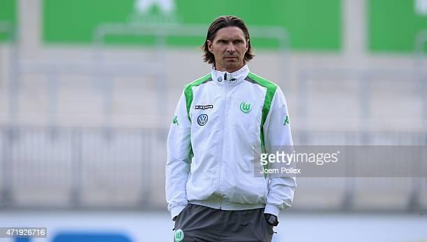 Head coach Thomas Brdaric of Wolfsburg II looks on prior to the Regionalliga Nord match between Werder Bremen II and VFL Wolfsburg II at AOKStadion...