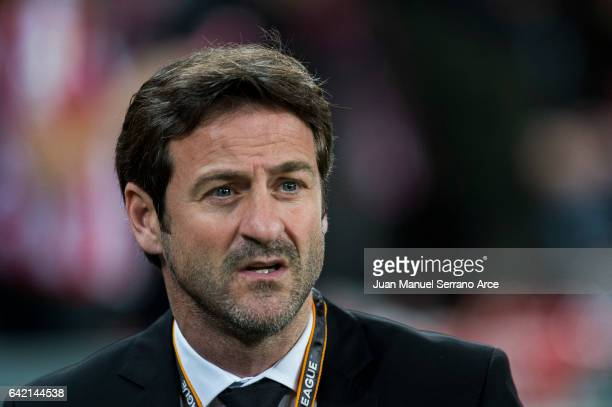 Head coach Thomas Christiansen of Apoel Nicosia FC looks on prior to the start the UEFA Europa League Round of 32 first leg match between Athletic...