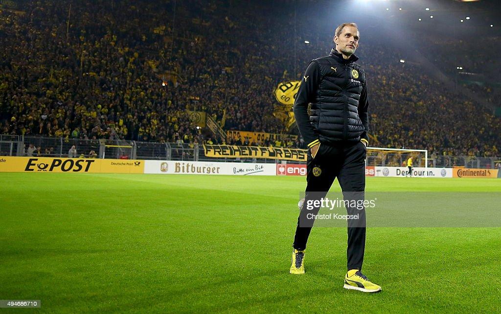 Borussia Dortmund v SC Paderborn  - DFB Cup : Photo d'actualité