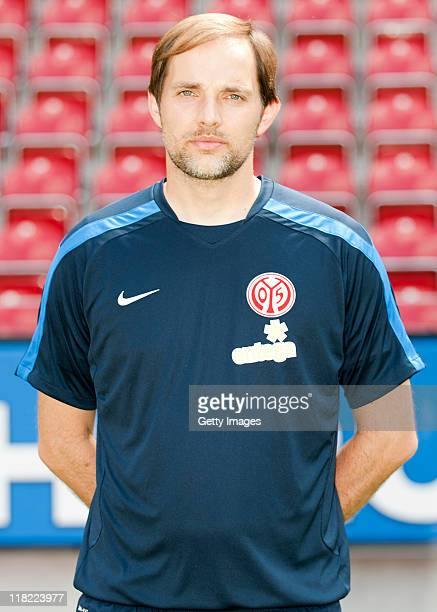 Head coach Thomas Tuchel poses during the 1 FSV Mainz 05 Team Presentation at the Coface Arena on July 5 2011 in Mainz Germany
