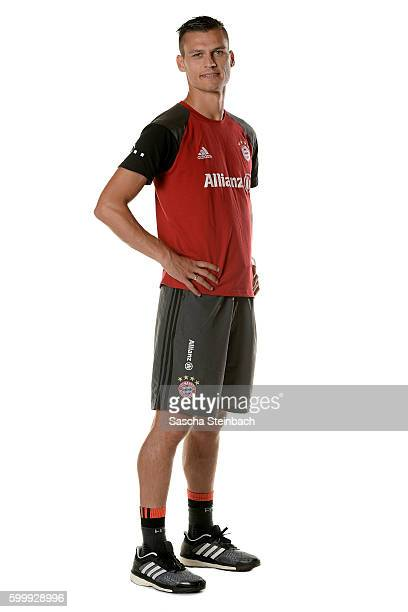 Head coach Thomas Woerle of FC Bayern Muenchen poses during the Allianz Women's Bundesliga Club Tour on September 4 2016 in Aschheim Germany