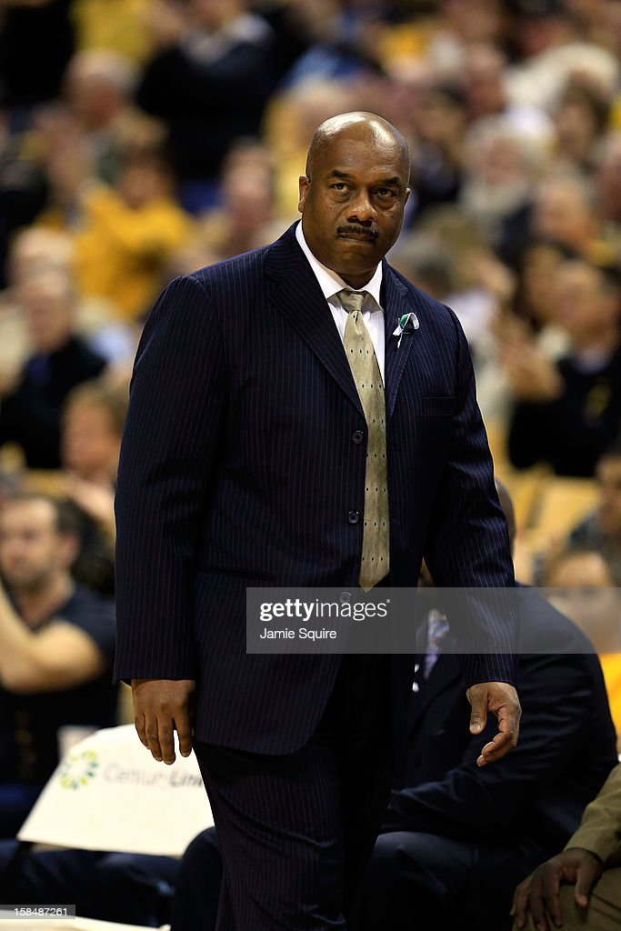 Head coach Tim Carter of the South Carolina State Bulldogs watches from the bench during the game against the Missouri Tigers at Mizzou Arena on December 17, 2012 in Columbia, Missouri.