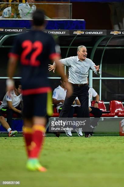 Head coach Tite of Brazil at Arena da Amazonia on September 6 2016 in Manaus Brazil