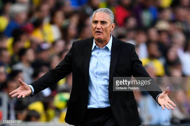 Head coach Tite of Brazil during the international friendly match between Brazil and Panama at Estadio do Dragao on March 23 2019 in Porto Portugal