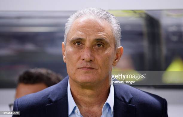 Head coach Tite of Brazil seen prior to the international friendly match between Germany and Brazil at Olympiastadion on March 27 2018 in Berlin...