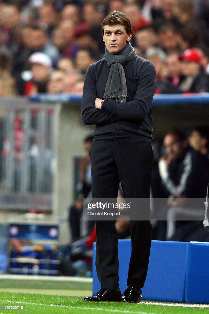 FC Bayern Muenchen v Barcelona - UEFA Champions League Semi Final: First Leg : News Photo