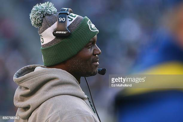 Head coach Todd Bowles of the New York Jets during the second half of their game against the Buffalo Bills at MetLife Stadium on January 1 2017 in...