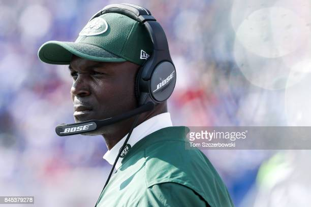 Head coach Todd Bowles of the New York Jets during the second half against the Buffalo Bills on September 10 2017 at New Era Field in Orchard Park...