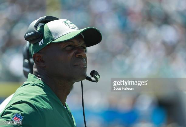 Head coach Todd Bowles of the New York Jets is seen on the sidelines during the first half against the Jacksonville Jaguars at TIAA Bank Field on...