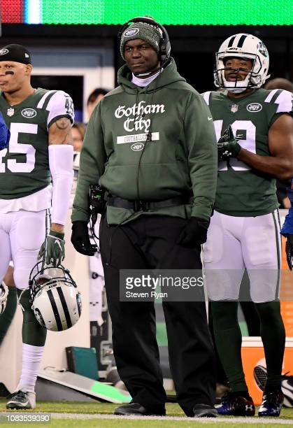 Head coach Todd Bowles of the New York Jets looks on against the Houston Texans at MetLife Stadium on December 15 2018 in East Rutherford New Jersey
