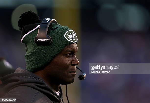 Head coach Todd Bowles of the New York Jets looks on against the New York Giants at MetLife Stadium on December 6 2015 in East Rutherford New Jersey