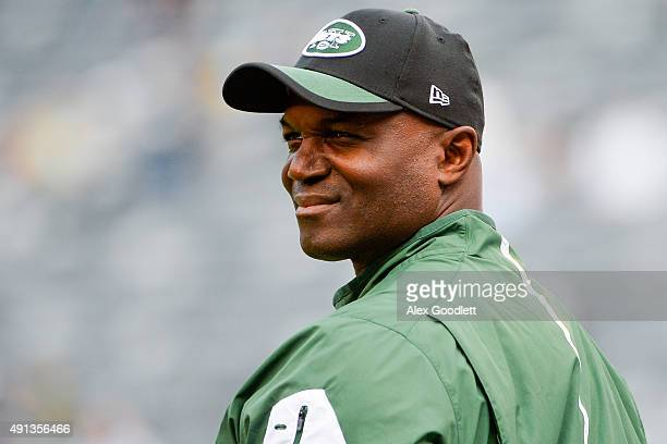 Head coach Todd Bowles of the New York Jets looks on before a game against the Philadelphia Eagles at MetLife Stadium on September 27 2015 in East...