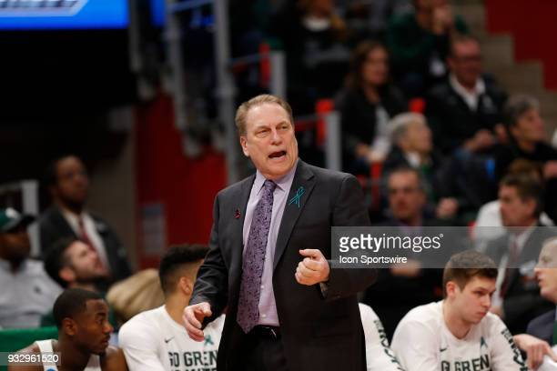 Head Coach Tom Izzo of the Michigan State Spartans during the NCAA Division I Men's Basketball Championship First Round game between the Michigan...