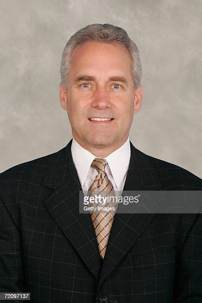 Head Coach Tom Renney of the New York Rangers poses for a portrait at Madison Square Garden on September 14 2006 in New York New York