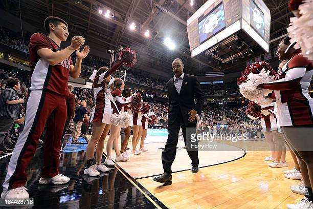 Head coach Tommy Amaker of the Harvard Crimson walks off the court after losing to the Arizona Wildcats 74-51 during the third round of the 2013 NCAA...