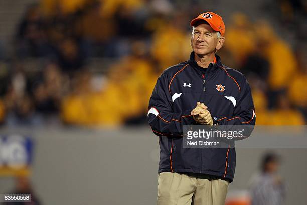 Head coach Tommy Tuberville of the Auburn University Tigers walks on the field against the West Virginia University Mountaineers on October 23 2008...