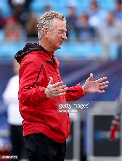 Head coach Tommy Tuberville of the Cincinnati Bearcats watches on before their game against the North Carolina Tar Heels at Bank of America Stadium...