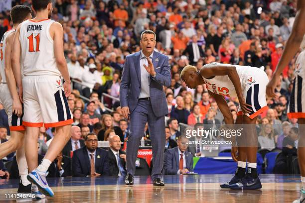 Head coach Tony Bennett of the Virginia Cavaliers instructs his team during overtime against the Texas Tech Red Raiders in the 2019 NCAA men's Final...