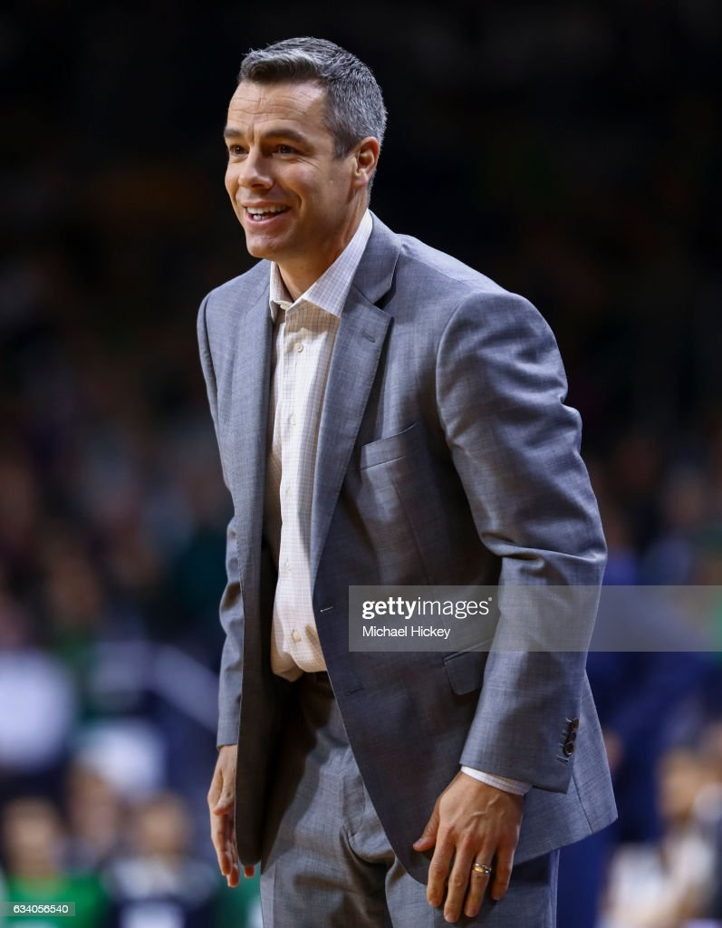 Head coach Tony Bennett of the Virginia Cavaliers is seen during the game against the Notre Dame Fighting Irish at Purcell Pavilion on January 24, 2017 in South Bend, Indiana.