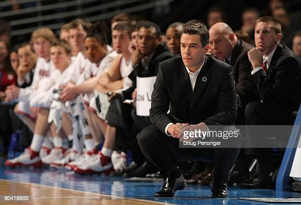 Head coach Tony Bennett of the Washington State Cougars looks on during the second round game of the East Regional against the Notre Dame Fighting...