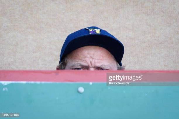 Head Coach Tony Brown of the Highlanders looks on during the preseason Super Rugby match between the Crusaders and the Highlanders on February 4 2017...