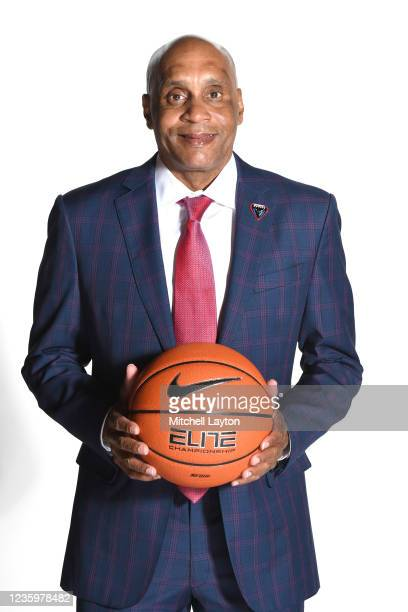 Head coach Tony Stubblefield of the DePaul Blue Demons poses for a photo during the Big East Media Day at Madison Square Garden on October 19, 2021...