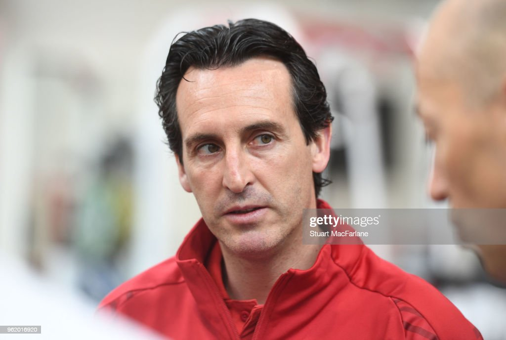 New Arsenal Head Coach Unai Emery at the Arsenal Training Ground : News Photo