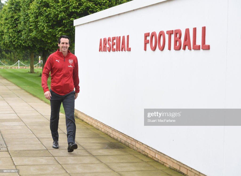 New Arsenal Head Coach Unai Emery at the Arsenal Training Ground : News Photo
