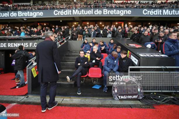 Head coach Unai Emery of Paris SaintGermain during the Ligue 1 match between Stade Rennes and Paris Saint Germain at Roazhon Park on December 16 2017...