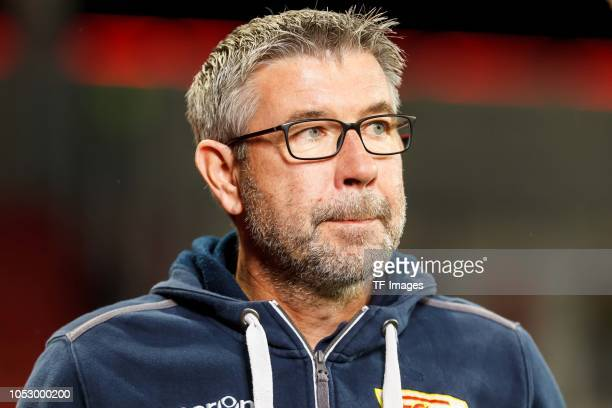 Head coach Urs Fischer of Union Berlin looks on prior to the Second Bundesliga match between FC Ingolstadt 04 and 1 FC Union Berlin at Audi Sportpark...
