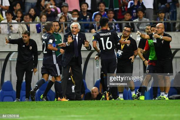 Head coach Vahid Halilhodzic of Japan in action during the FIFA World Cup Qualifier match between Japan and Australia at Saitama Stadium on August 31...
