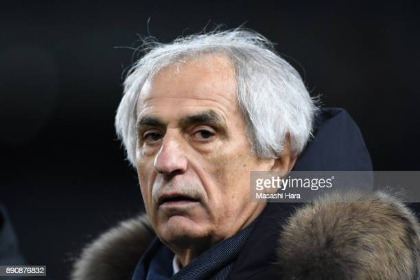 Head coach Vahid Halilhodzic of Japan looks on after the EAFF E1 Men's Football Championship between Japan and China at Ajinomoto Stadium on December...