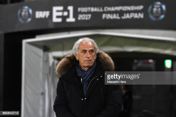 Head coach Vahid Halilhodzic of Japan looks on prior to the EAFF E1 Men's Football Championship between Japan and China at Ajinomoto Stadium on...
