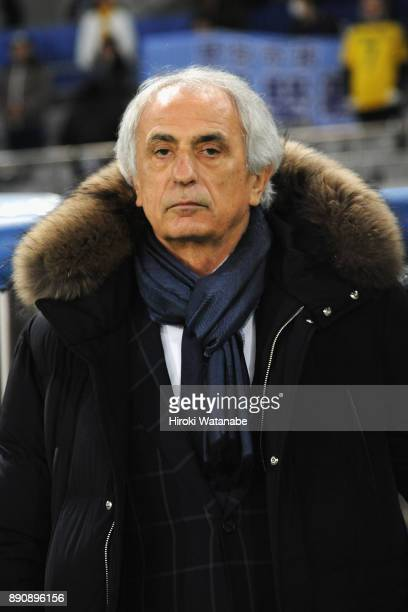 Head coach Vahid Halilhodzic of Japan looks on prior to the EAFF E1 Men's Football Championship between Japan and China at Ajinomoto Stadium on...