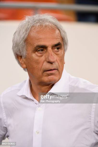 Head coach Vahid Halilhodzic of Japan looks on prior to the FIFA World Cup qualifier match between Saudi Arabia and Japan at the King Abdullah Sports...