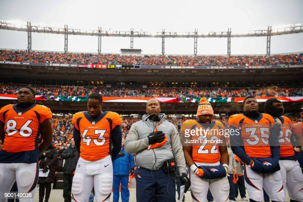 Head coach Vance Joseph of the Denver Broncos looks on before the game against the Kansas City Chiefs at Sports Authority Field at Mile High on...