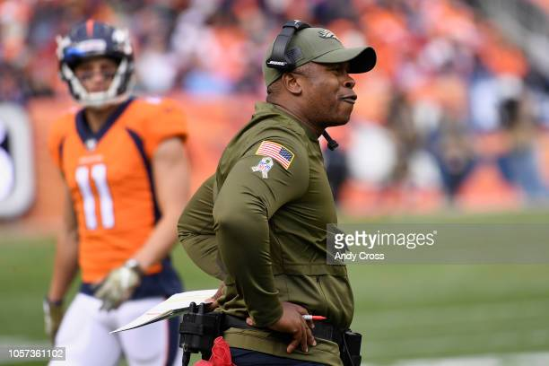 Head coach Vance Joseph of the Denver Broncos on the sidelines during the second quarter The Denver Broncos hosted the Houston Texans at Broncos...