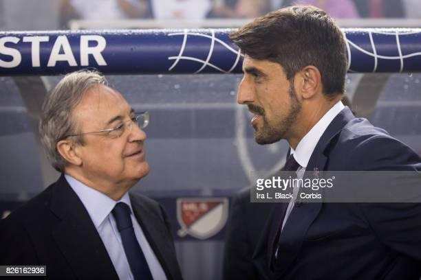 Head Coach Veljko Paunovic of the MLS AllStars team and Florentino Pérez president of Real Madrid during the MLS AllStar match between the MLS...