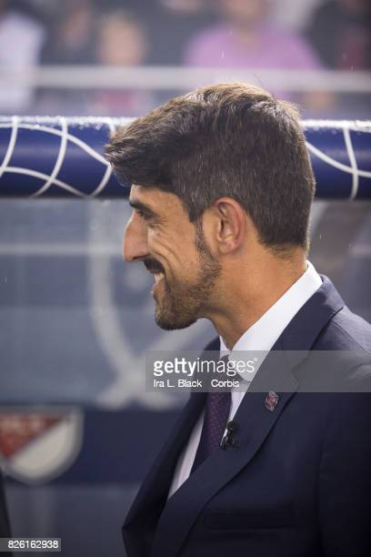Head Coach Veljko Paunovic of the MLS AllStars team during the MLS AllStar match between the MLS AllStars and Real Madrid at the Soldier Field on...