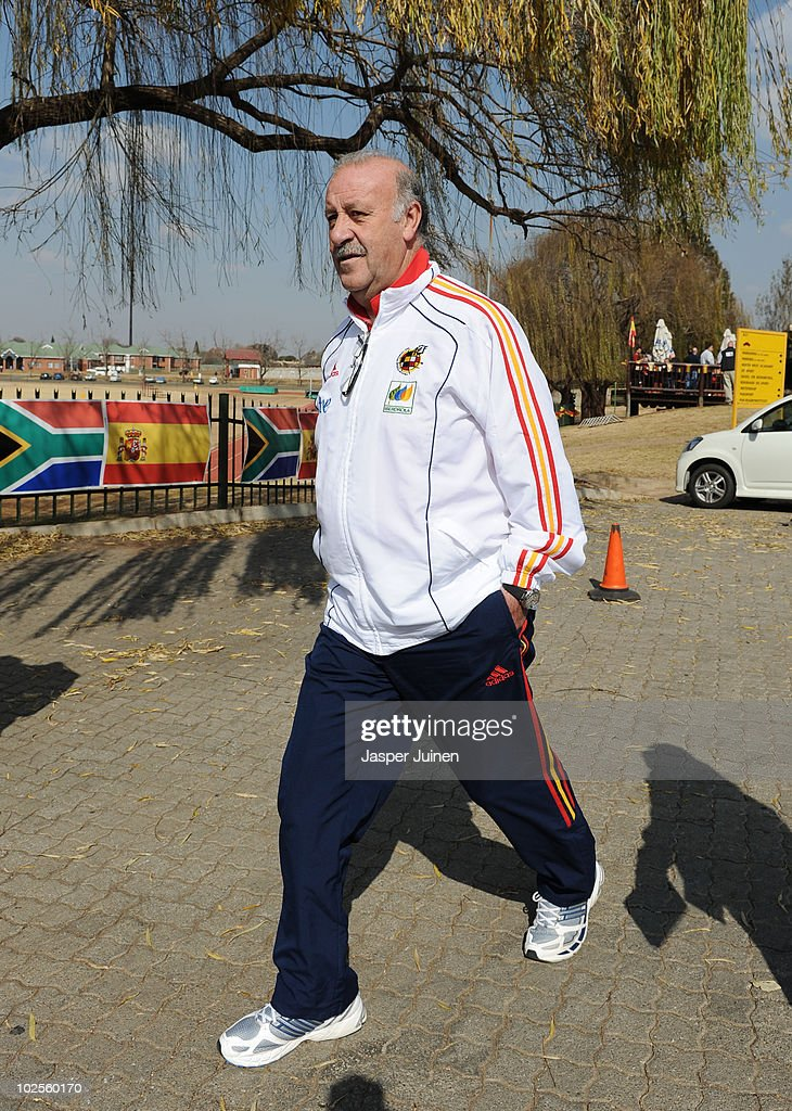 Head coach Vicente del Bosque of Spain walks the hotel premises, ahead of their World Cup 2010 Quarter-Final match against Paraguay, on July 1, 2010 in Potchefstroom, South Africa.