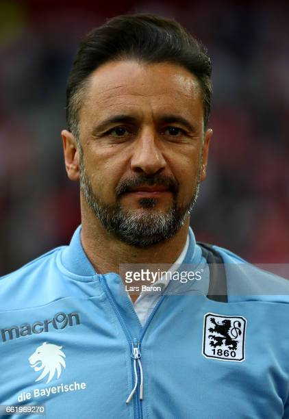 Head coach Vitor Pereira of Muenchen looks on during the Second Bundesliga match between Fortuna Duesseldorf and TSV 1860 Muenchen at EspritArena on...