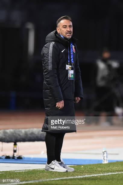 Head coach Vitor Pereira of Shanghai SIPG looks on during the AFC Champions League Group F match between Kawasaki Frontale and Shanghai SIPG at...