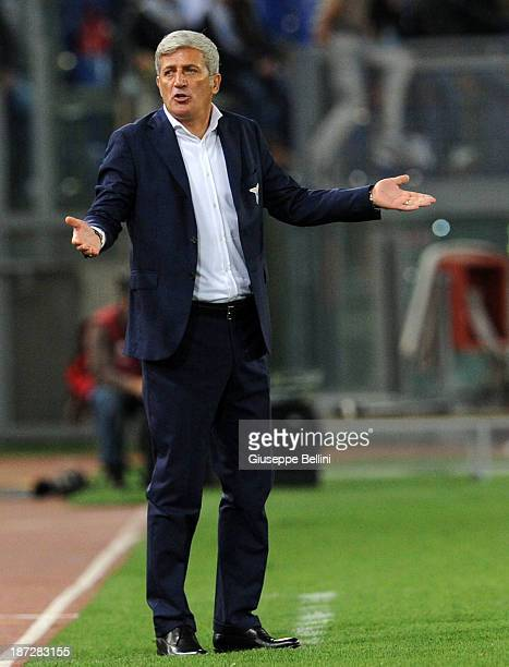 Head coach Vladimir Petkovic of SS Lazio during the Uefa Europa League Group J match between SS Lazio and Apollon Limassol FC at Stadio Olimpico on...