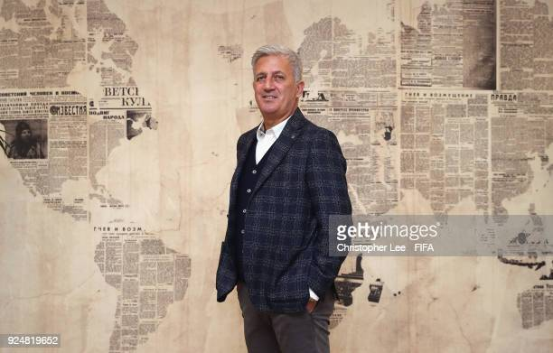 Head Coach Vladimir Petkovic of Switzerland poses for the camera during Day 1 of the 2018 FIFA World Cup Russia Team Workshop on February 27 2018 in...