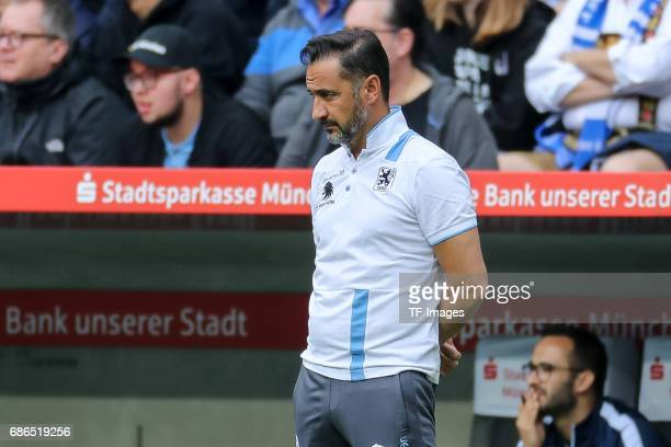 Head coach Vítor Pereira of 1860 Munich looks on during the Second Bundesliga match between TSV 1860 Muenchen and VfL Bochum at Allianz Arena on May...