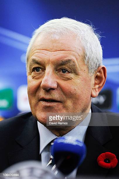 Head coach Walter Smith of Glasgow Rangers attends a press conference prior to their UEFA Champions League Group C match against Valencia at La...